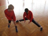 rozcvička před zápasem v Bohunicích(Joža a Mirek)